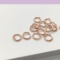 argolla baño de cobre de 5 mm, set de 1 grs. (set de 15 unidades aprox)
