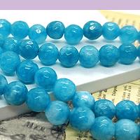Agatas, Agata en tonos calipso, en 6 mm, tira de 60 piedras aprox
