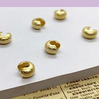 Tapanudo caracol baño de oro, 6 mm, set de 6 unidades (3 pares)