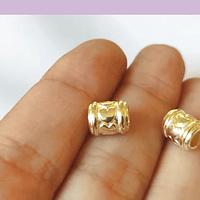 Separador baño de oro, 8 x 5 mm, agujero de 4 mm, set de 12 unidades (por mayor)