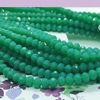 Cristal color verde 4 mm, tira de 140 cristales aprox