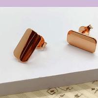 Base de aro baño de cobre, 11 x 6 mm, por par