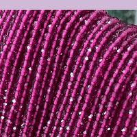 Rubi facetado de 3 mm, tira de 135 piedras aprox