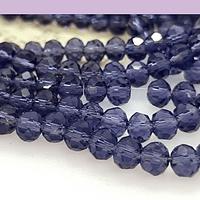 Cristal facetado en color morado de 6 mm, tira de 94 cristales aprox.