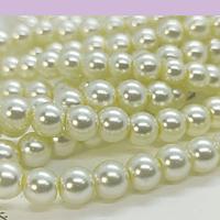 perla de fantasía crema de 6mm , perla 140 perlas aprox.