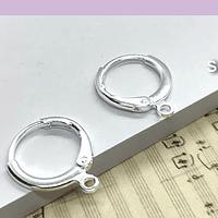 Base de aro baño de plata, 11 mm de diámetro, set de 6 pares (por mayor)