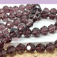 Cristal redondo de 8 mm, color ciruela, tira de 38 cristales aprox