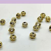 Separador dorado, 5 x 4 mm, agujero de 1 mm, set de 20 unidades