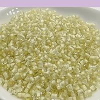 mostacilla crema cristal de 8/0 (3 mm), set de 50 grs