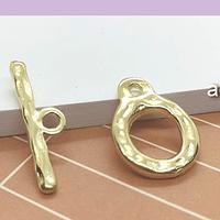 Broche timón baño de oro con diseño, 14 mm, por unidad
