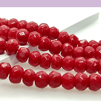 Agata rojo RONDELL , de 6 mm, tira de 87 piedras aprox.