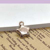 Dije baño de cobre en forma de corazón, 12 mm y 3 mm de grosor, por unidad