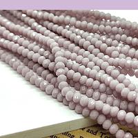 Cristal facetado de 2 mm, color palo de rosa, tira de 190 cristales aprox
