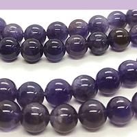 Amatista de 6 mm, tira de 29 piedras