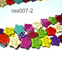 Resina multicolor en forma de estrella, 12 mm de diámetro, tira de 38 piezas