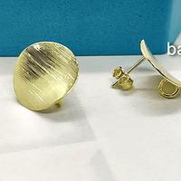 Base de aro baño oro, 15 mm por par