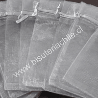 Bolsa de organza gris, 9 x 12 , set de 10 unidades