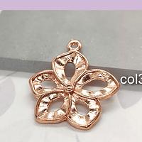 Colgante baño de cobre en forma de flor, 25 mm, por unidad