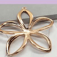 Colgante baño de cobre en forma de flor, 40 mm, por unidad
