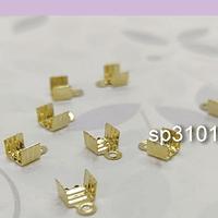 Terminal baño de oro, 5 mm de ancho x 7 mm de largo, set de 10 unidades