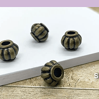 Separador envejecido, 10 x 7 mm, agujero de 3 mm, set de 4 unidades