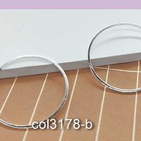 Circulo baño de plata, 25 mm de de diámetro, por 1 mm de grosor, set de 2 unidades