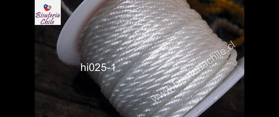Hilos, Hilo trenzado 3 mm en color blanco, rollo de 23 metros
