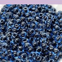 Mostacillon azul 6/0 set de 50 grs