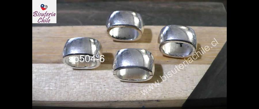 Separado plateado, 8 mm de largo x 15 mm de ancho y 12 mm x alto, agujero de 12 x 8 mm, set de 4 unidades