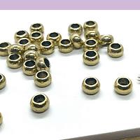 Separador dorado. s x 3 mm, agujero de 3 mm, set de 25 unidades