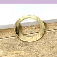 Argolla baño de oro, 18 mm, 3 mm de grosor, por unidad