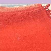 Bolsa organza color rojo de 12 x 14 set de 10 unidades