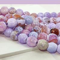 Agatas, Agata facetada en tonos lilas de 8 mm, tira de 46 piedras apróx