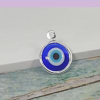Dije ojo turco con baño de plata, 11 mm, por unidad