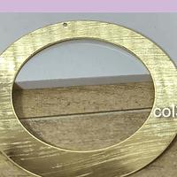 Circulo baño de oro con perforación superior, 50 mm, 7 mm de ancho, por unidad