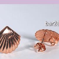 Base de aro baño de cobre, 15 mm, por par