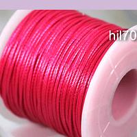 Simil cuero rosa fuerte 1 mm de espesor, rollo de 50 metros