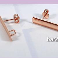 Base aro baño de cobre, 22 x 4 mm, por par
