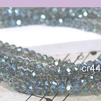 Cristal facetado de 2 mm, color gris tornasol, tira de 190 cristales aprox.
