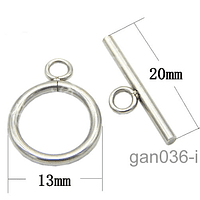 Broche timón de acero inoxidable, 13 mm de diámetro, contiene dos cierres por set.