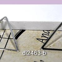 Triángulo baño de plata, 20 x 20 mm, por par