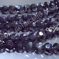 Cristal redondo de 8 mm, color morado, tira de 30 cristales aprox