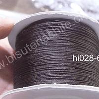 Hilos, Hilo chino color café oscuro, 0,5 mm de ancho, rollo de 150 metros