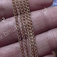 Cadena dorada, eslabón de 2,5 x 2,5 por metro