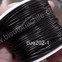 Simil cuero negro, 1 mm de espesor, rollo de 50 metros