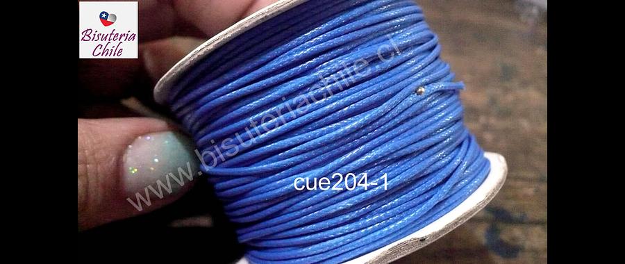 Simil cuero azul, 1 mm de espesor, rollo de 50 metros