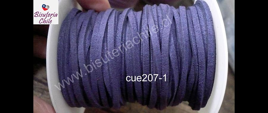 Gamuza 3 mm azul de 30 metros