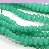 Cristal facetado de color jade 2 x 2 mm, tira de 190 cristales aprox