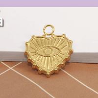 Dije baño de oro, 16 x 14 mm, por unidad