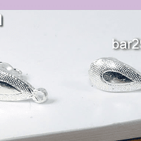 Base de aro baño de plata, 14 x 6 mm, por par